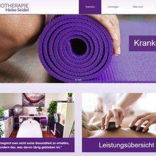 Neugestaltung und Umsetzung einer Website für Physiotherapie Heike Seidel